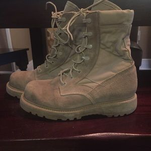 Military Hot weather Combat Boots Vibram Outsole
